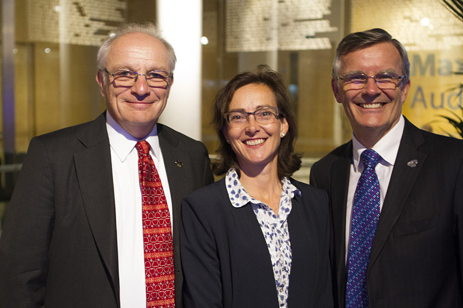 Mercy Ships UK Board member Anthony Dunnett with Dr Michelle White and Dr Peter Linz