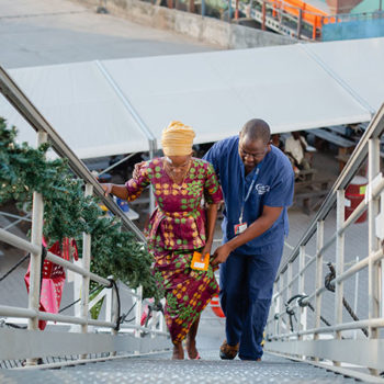 Walking onboard the Africa Mercy