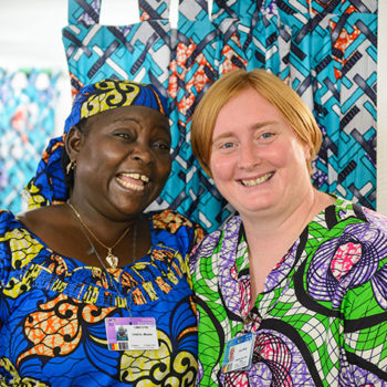 Fanta and Jane White, a nurse onboard the Africa Mercy.