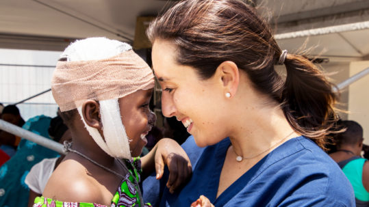 Mercy Ships volunteers and patients form close bonds on the hospital ship.