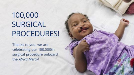 Aissata before free surgery onboard hospital ship Africa Mercy