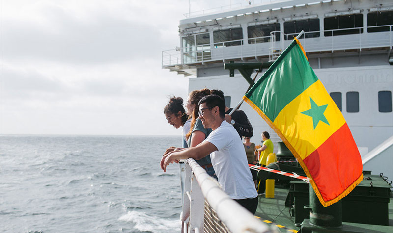 Mercy Ships arriving into Senegal