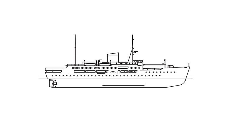 line drawing of CARIBBEAN MERCY