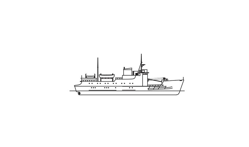 Line drawing of Island Mercy